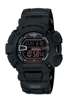 Casio Men's G9000MS-1CR G-Shock Military Concept Black Digital Watch Casio. $99.00. 5 Multi-function alarms, countdown timer, twin stopwatches. Dual auto EL backlight with afterglow, world time ( 48 Cities). Reliable quartz movement. Military concept with Black Matt, Reverse LCD and Red EL Back Light, Shock Resistant, Mud Resistant. Water resistant up to 660 feet (200 M). Save 10% Off!