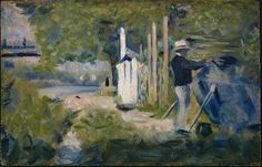 Man painting a boat  Seurat, Georges © The Samuel Courtauld Trust, The Courtauld Gallery, London image details    Creators Seurat, Georges   Date circa 1883   Collection The Courtauld Gallery, London