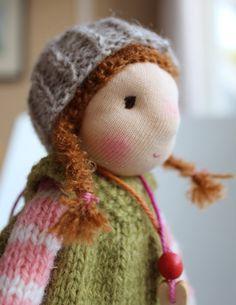 Waldorf doll Waldorf knitted doll 8 inch / 20 cm by Toddledolls