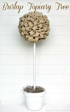 Burlap Topiary Tree Tutorial - This Burlap Topiary Tree Tutorial relatively simple and can work for so many different occasions. @Barbara Mercer