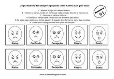 Carlota jogo memory emoções 1 colorir pintar Teaching Emotions, Cartoon Faces, Primary Education, Yoga For Kids, Emotional Intelligence, Psychology, Motivational Quotes, Stress, Feelings