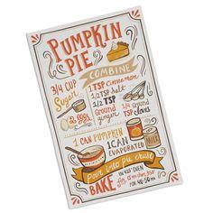 Dish Towels, Tea Towels, Recipe Book Design, Disney Inspired Food, Recipe Drawing, Food Journal, Recipe Journal, Restaurant Menu Design, Pumpkin Pie Recipes