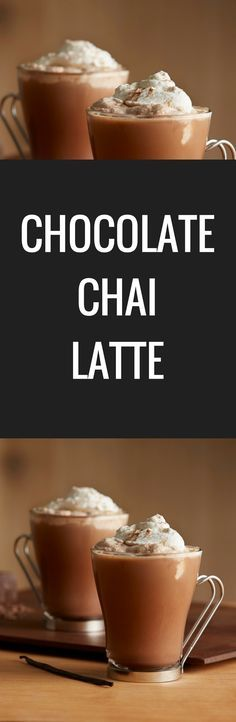 Spiced chai tea, rich chocolate and a dash of vanilla make this Chocolate Chai Latte a new winter favorite.