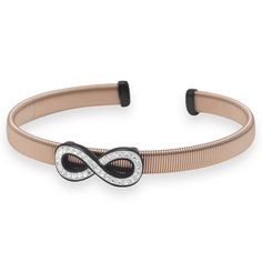 14 Karat Rose Gold Plated Stainless Steel Infinity Cuff Bracelet