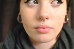 Septum Piercing & Medusa - Love you both! Septum Piercings, Piercing Tattoo, Medusa Piercing, Cool Piercings, Body Piercing, Double Piercing, Tragus, Gauges, Drug Tattoos