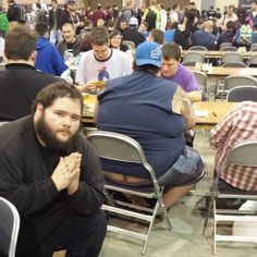 Man Goes To Magic: The Gathering Tournament, Poses Next To Butt Cracks -- hahahahahahahahahahahaha gross