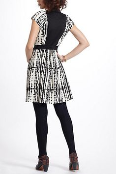 Harlequin Cord Shirtdress