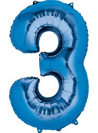 Blue Number Balloons - Metallic Blue Balloons & Balloon Accessories - Party City