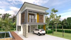 Small Home Design Plan with 3 Bedrooms - SamPhoas Plan Two Storey House Plans, Tiny House Plans, House Floor Plans, House Layout Plans, House Layouts, Simple House Design, Modern House Design, Bedroom House Plans, Home Decor Bedroom