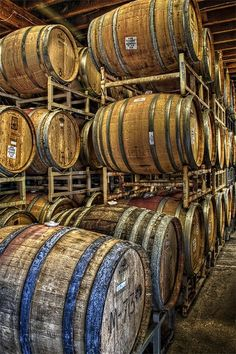 Sonoma wine barrels in HDR Wine Tasting Events, Tasting Room, Wine Cellar, Wine Barrels, California Wine, Sonoma California, Sonoma Wine Country, Organic Wine, Concrete Wood
