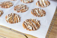 Florentine Lace Cookies Chocolate Drizzle Recipe from @Shonda Chadwick Spatulas | Joanne Ozug