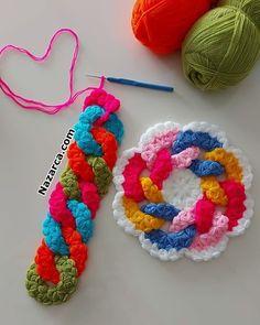 Ios 7 Wallpaper, Crochet Crafts, Plastic Canvas, Friendship Bracelets, Crochet Necklace, Barbie, Knitting, Jewelry, Crochet Flowers