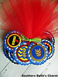 Power Rangers MegaForce Favor Tags...Set of by southernbellescharm, $25.00