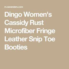 Dingo Women's Cassidy Rust Microfiber Fringe Leather Snip Toe Booties