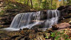 Kanada, Prowincja Ontario, Gmina Hamilton, Strumień Logies Creek, Wodospad Lower Tews Falls