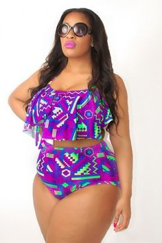 BRIGHT AZTEC SERENGETI SWIMSUIT TOP @Brittany Carreon idk why but I feel like you might enjoy this print because I've crept on some of your stuff lol ❤️