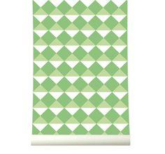 Behangpapier Retro Green