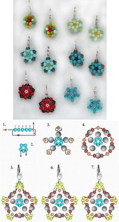 DIY Beautiful Bead Flower Earrings