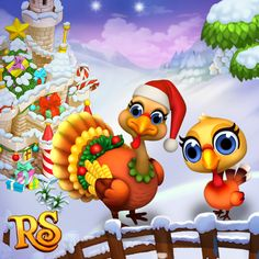 Season greetings from Christmas Turkeys! #royalstorygame #royalzoo #royalanimals