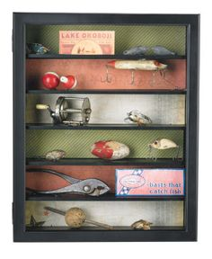 Fishing Memorabilia Shadow Box