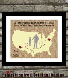 Personalized Fathers Day Gift For Dad Birthday Quote Picture Daddy From Son #uniquefathersdaygift #personalizedfathersdaygift #fathersday , $21.99