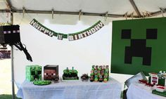 Minecraft Themed Birthday Party | CatchMyParty.com