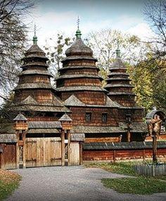 Lviv old wooden church