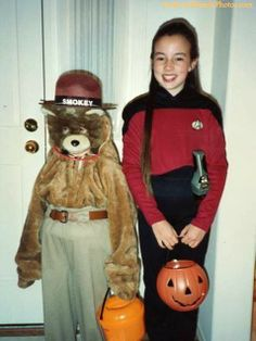 Hilariously Awkward Halloween Photos - Smokey and His Sidekick  http://www.ivillage.com/hilariously-awkward-halloween-photos-smokey-and-his-sidekick/6-b-387329
