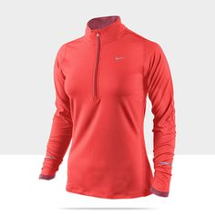 This is Bo's favorite running top's female equivalent. Lightweight, long enough sleeves, and soft! Nike Element Half-Zip Women's Running Top