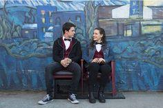 """Les deux acteurs principaux de """"13 Reasons Why"""", Dylan Minette (Clay Jensen) et Katherine Langford (Hannah)."""