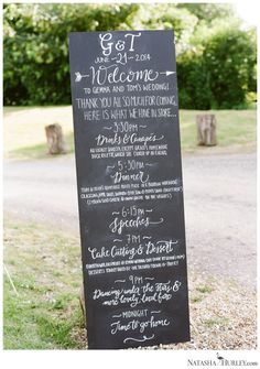 #wedding welcome sig