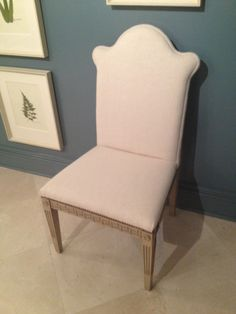 High Point Spring Market 2012-Great dining chair by Mr. and Mrs. Howard for Sherrill Furniture.