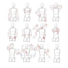 Arm position reference, a useful art sheet showing how to draw arm in different . Arm position ref Arm Drawing, Drawing Body Poses, Body Reference Drawing, Drawing Reference Poses, Anatomy Reference, Drawing Tips, Anatomy Sketches, Anatomy Drawing, Anatomy Art