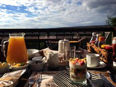 Breakfast with a view at Woodbury Lodge on Amakhala Game Reserve Game Reserve, Lodges, Cape, Table Decorations, Breakfast, Mantle, Breakfast Cafe, Cabins, Cabo