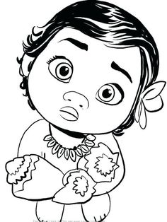 Free for personal use Baby Moana Drawing of your choice Moana Coloring Pages, Baby Coloring Pages, Disney Princess Coloring Pages, Spring Coloring Pages, Disney Princess Colors, Disney Colors, Animal Coloring Pages, Coloring Books, Fall Coloring
