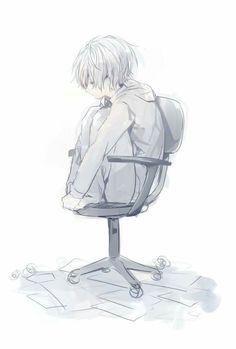 Sɪɢᴏ ʙᴜsᴄᴀɴᴅᴏ ʟᴀ sᴏʟᴜᴄɪᴏ́ɴ ᴀ ᴛᴏᴅᴏs ᴍɪs ᴘʀᴏʙʟᴇᴍᴀs. Sad Anime, Cute Anime Boy, Chibi, Nagisa Shiota, Sad Drawings, Arte Obscura, Anime Child, Sad Art, Vampire Knight