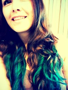 Teal Ombre hair love it!!