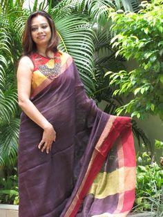 Pure #Linen #Saree