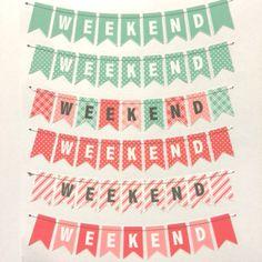 12 Weekend Stickers for Erin Condren Life Planner