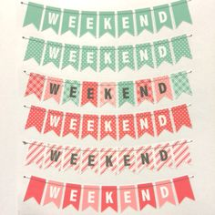 12 Weekend Stickers for Erin Condren Life Planner