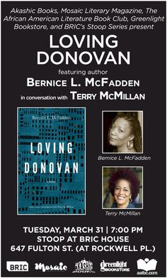 Bernice McFadden & Terry McMillan to discuss McFadden's novel LOVING DONOVAN http://aalbc.it/bernice-terry  @AkashicBooks