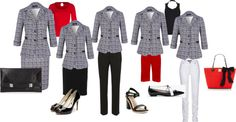 """A Great Jacket - 5 ways"" by clothescall ❤ liked on Polyvore"