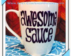 Mustache mug handpainted coffee mug funny mugs by PickMeCups