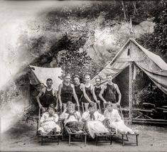 "Summer camp on the banks of the Potomac, circa 1920. ""G. Whiz Canoe Club.""  http://www.shorpy.com/node/20171?utm_content=buffer4a81a&utm_medium=social&utm_source=pinterest.com&utm_campaign=buffer National Photo"