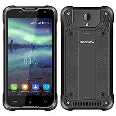 Blackview BV5000 IP67 Smartphone Étanche Antipoussière Antichoc Robuste Drfy Android 5.1 OS Quad Core MTK6735P IPS Écran 5.0″ 1.0 GHz 64…