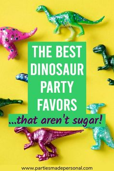 DIY Dinosaur Party Favor Bags for your next Dinosaur Themed Birthday Party | For more kids birthday party ideas visit Parties Made Personal #dinosaurparty #dinosaurtheme #dinosaurbirthday #dinosaurs #partiesmadepersonal