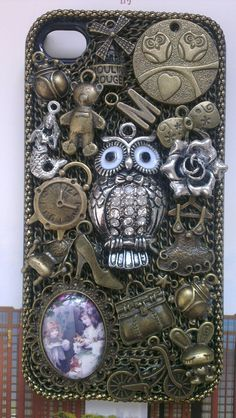 Vintage steampunk Owl iPhone Cover iPhone 4 $30.00, via Etsy. LOOOVE