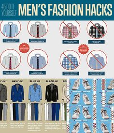 Check out these 45 DIY Fashion Hacks for shortcuts, hints and tips on how to look your best at this year's London Fashion Week Image Fashion, Diy Fashion, Fashion Hacks, Mens Fashion, Fashion Tips, Fashion Trends, Fashion Ideas, Fashion Menswear, Style Fashion