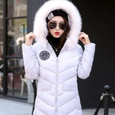 34.14$  Buy now - https://alitems.com/g/1e8d114494b01f4c715516525dc3e8/?i=5&ulp=https%3A%2F%2Fwww.aliexpress.com%2Fitem%2F2016-New-Winter-Jacket-Women-Faux-Fox-Fur-Collar-Hooded-Jacket-Slim-Medium-long-Down-Cotton%2F32719053163.html - 2016 New Winter Jacket Women Faux Fox Fur Collar Hooded Jacket Slim Medium-long Down Cotton Coat Big Pocket Snow Warm Parkas