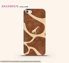 GIRAFFE SKIN iphone 5 case iphone 4s case leather by Zzandzun, $16.99